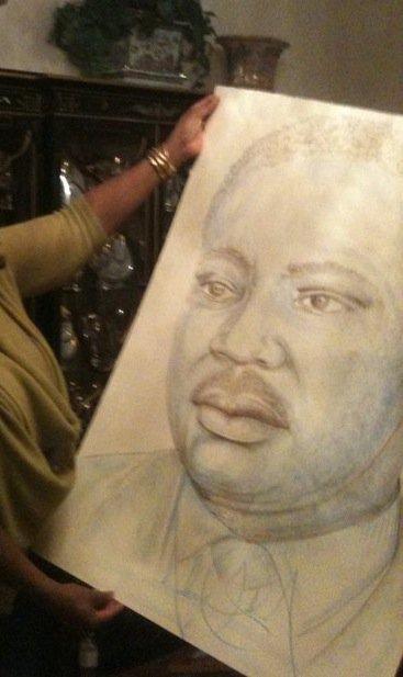 rare foto of michael jackson's drawings