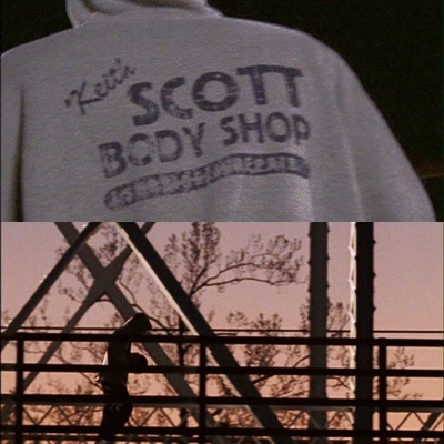 Lucas Scott پیپر وال probably with a chainlink fence called 1x01