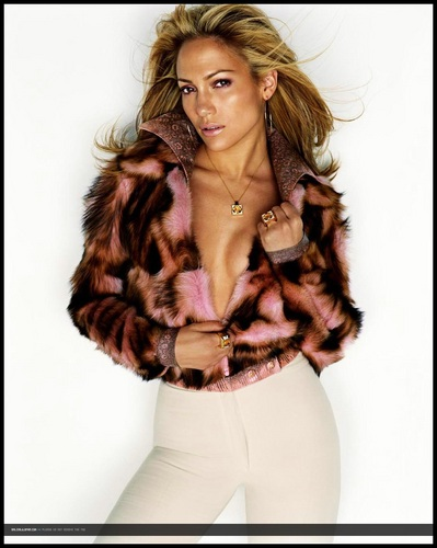 Jennifer Lopez wallpaper with a fur coat entitled 2000 W Magazine Photo Shoot