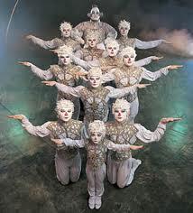 Cirque du Soleil karatasi la kupamba ukuta entitled Alegria