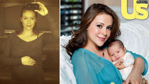 Alyssa Milano and son Milo