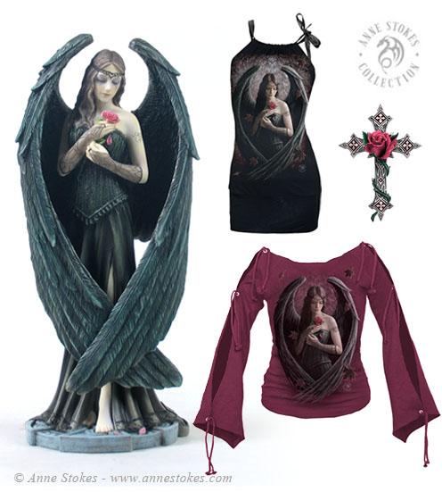 एंजल Rose Sculpture & Shirts
