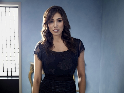 Michaela Conlin wallpaper possibly with a top, a playsuit, and a chemise titled Angg