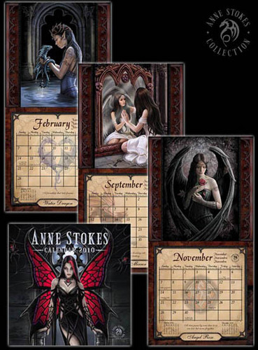 Anne Stokes वॉलपेपर containing ऐनीमे entitled Anne Stokes Calendar 2010