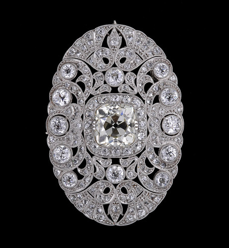 Art Deco Diamond Brooch - jewelry Photo