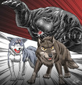 Balto and Gin battle awesome!!! - balto fan art