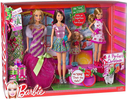 Barbie Perfect krisimasi doll's