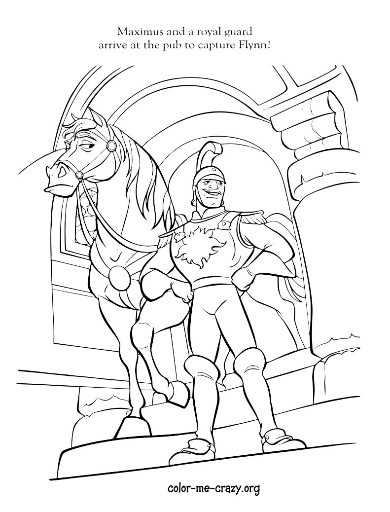 the captain of the guard tangled images captain colouring page hd wallpaper and background photos - Tangled Coloring Pages Girls
