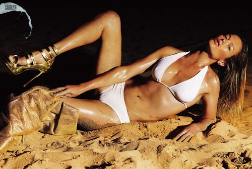 swimsuit si wallpaper probably containing a bikini called Carolyn Murphy