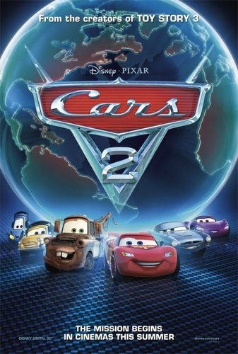 Disney Pixar Cars 2 پیپر وال probably containing a sign called Cars 2 Movie Poster