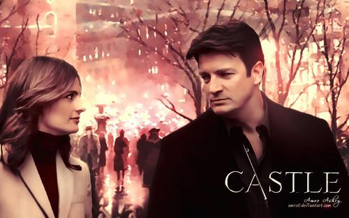 Caskett wallpaper containing a portrait titled Caskett