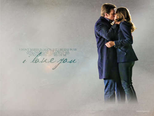 castillo & Beckett´s 1st kiss