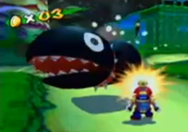Super Mario Sunshine wolpeyper with anime entitled Chain Chomplet
