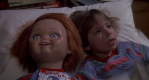 Andy Barclay wallpaper containing a portrait called Chucky an ANdy