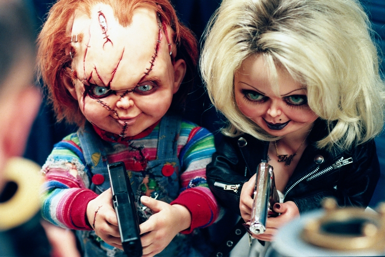 bride of chucky 2 images chucky and tiffany hd wallpaper and
