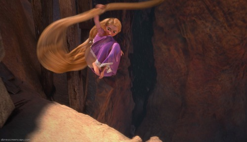 Cool action of Rapunzel