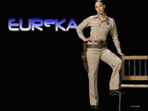"Eureka 壁纸 possibly with a well dressed person and a hip boot titled Deputy Sheriff Joesphina ""Jo"" Lupo"