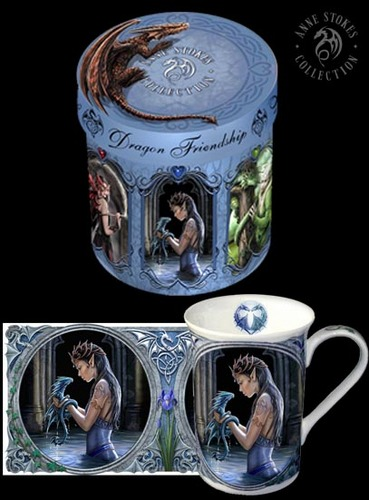 Anne Stokes Hintergrund entitled Dragon Friendship Mugs