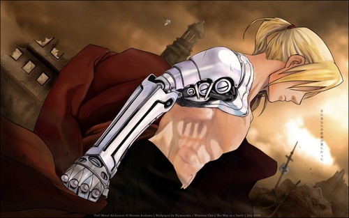 Full Metal Alchemist achtergrond possibly containing anime called Edward achtergrond