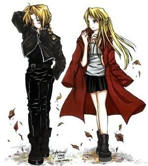 full metal alchemist wallpaper titled Edward & Winry <3