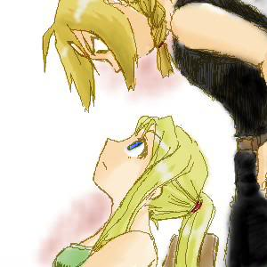 full metal alchemist wallpaper probably with anime called Edward & Winry <3