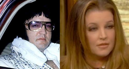 Elvis Aaron Presley and Lisa Marie Presley wallpaper possibly with sunglasses and a portrait called Elvis & Lisa