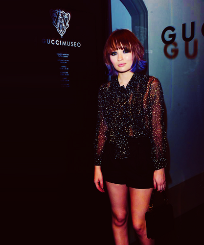 Emily at the Gucci Museo opening