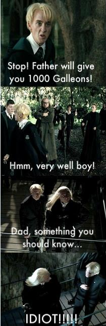 funny malfoy harry potter vs twilight litrato fanpop