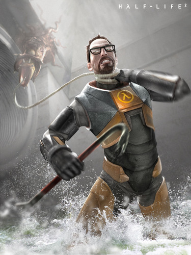 Gordon Freeman held سے طرف کی a Barnacle