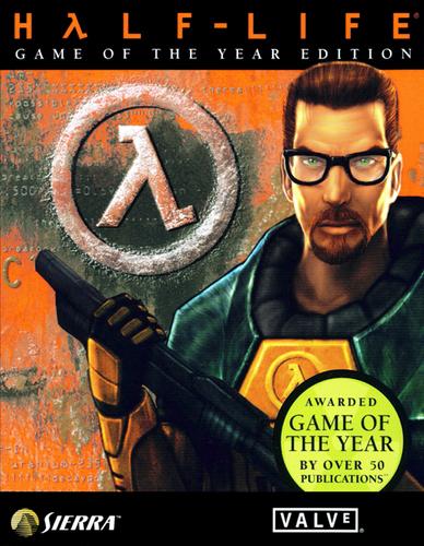 Gordon Freeman on Half-Life (1) box cover