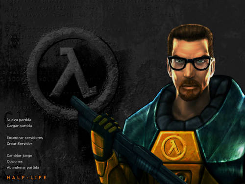 Gordon Freeman on Half-Life (1) game menu