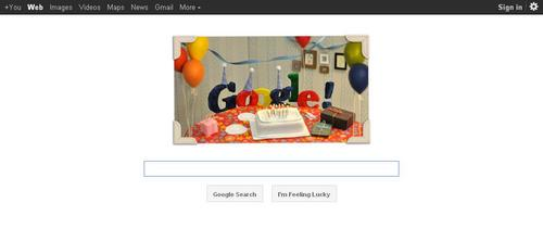 Google wallpaper called Happy 13th Birthday Google!
