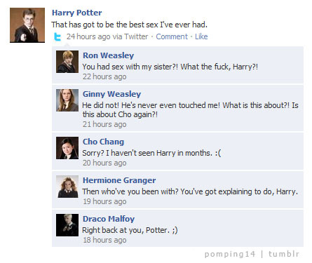 Harry Potter is on Facebook!
