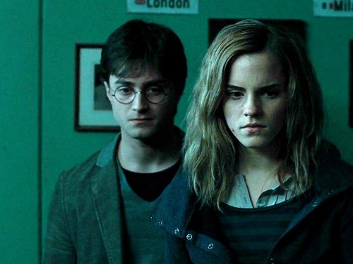 Harry, Ron and Hermione kertas dinding
