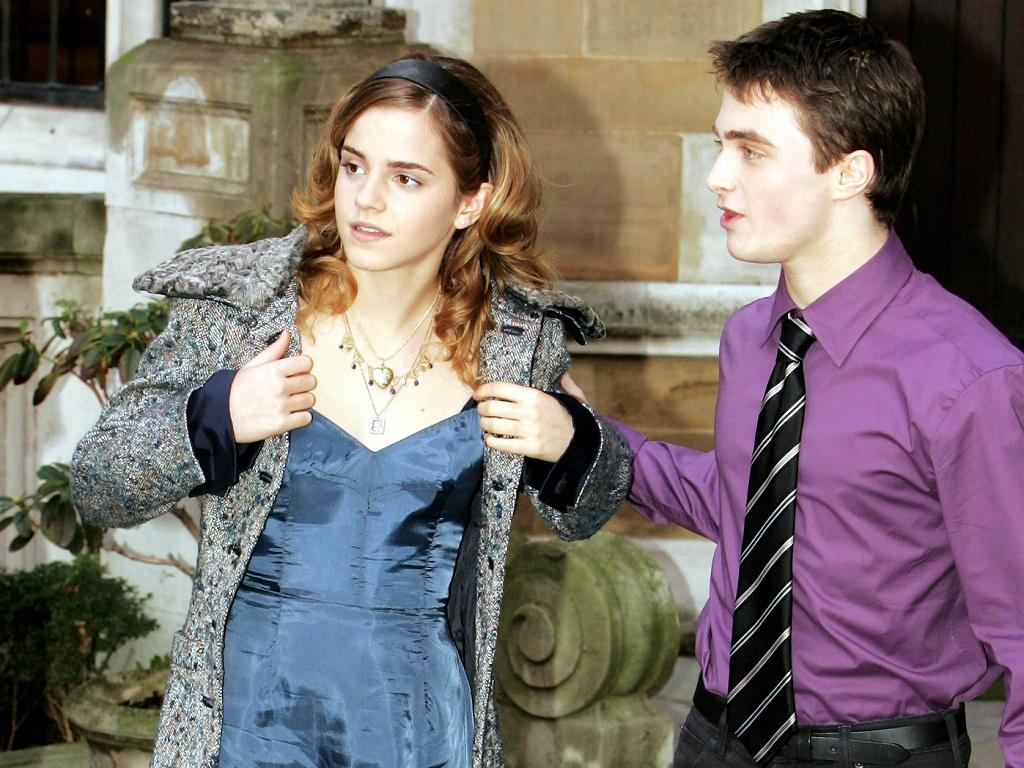 Harry and Hermione fondo de pantalla