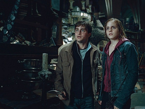 Harry and Hermione fondo de pantalla