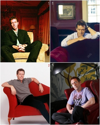 Hugh Laurie at various moments
