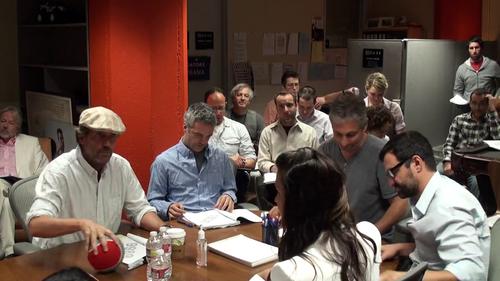 Hugh Laurie in the writers' room-(house season8)
