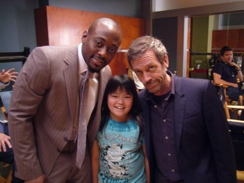 Hugh laurie and Omar Epps- set house