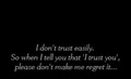 I Don't Trust Easily! 100% Real ♥
