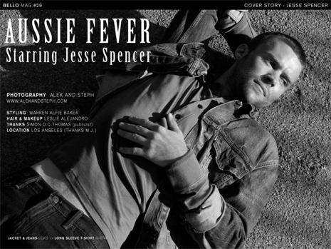 Jesse Spencer in Issue #29 of Bello Magazine