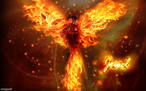 Rio wallpaper containing a fire and a fire entitled Jewel hot wings by omegawolf