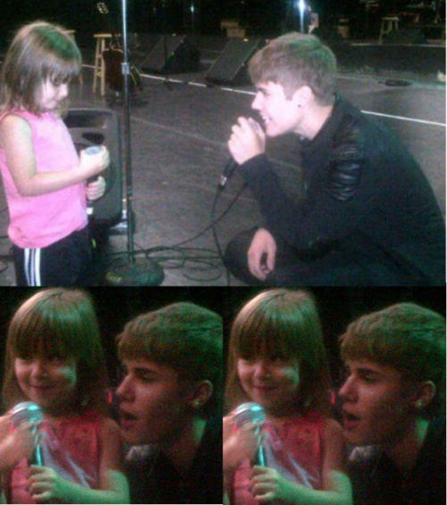 Justin singing to Jazzy how cute (: - justin-bieber photo