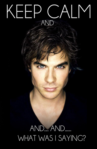 The Vampire Diaries wallpaper with a portrait titled Keep Calm;Damon