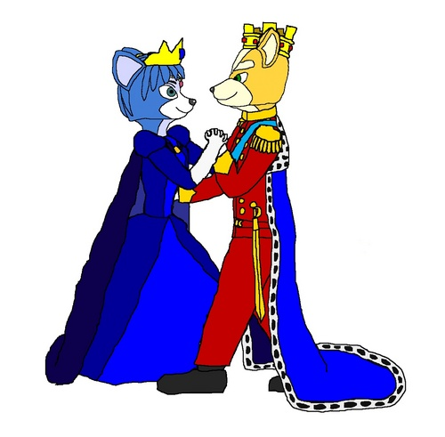King vos, fox and Queen Krystal