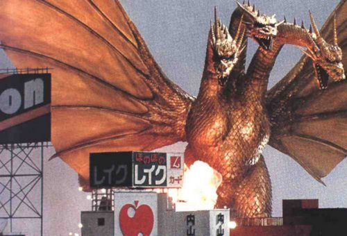 Godzilla achtergrond containing anime called King Ghidorah
