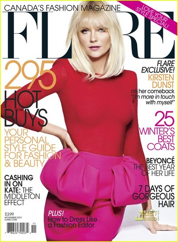 Kirsten Dunst Covers 'Flare' November 2011