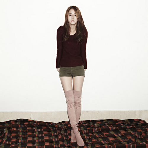 F(x) wallpaper probably containing hosiery, bare legs, and a playsuit entitled Krystal - QUA