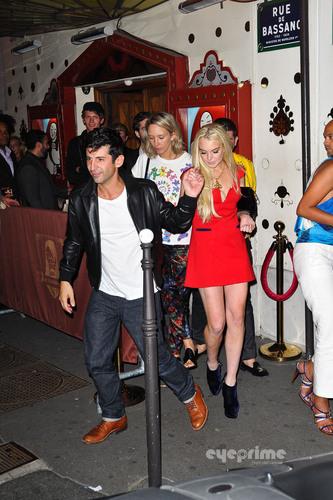 Lindsay Lohan wallpaper called Lindsay Lohan: Night Out in Paris, Sep 28