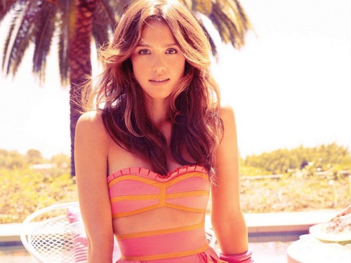 Jessica Alba wallpaper probably containing attractiveness, a bustier, and a swimsuit entitled Lovely Jessica Wallpaper ❤